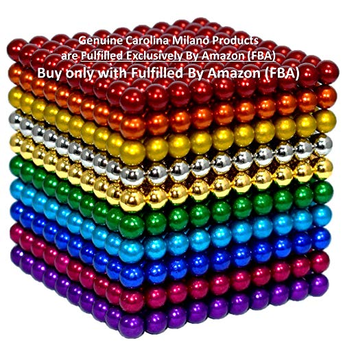 1000 pcs 5mm 10 Colors Magnetic Balls Multicolored Large cube Building Blocks Sculpture Educational Game Fun Office Toy Intelligence Development Stress Relief Imagination gift - Color variation B