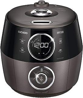 Cuckoo CRP-GHSR1009F 10 cup Induction Heating Pressure Rice Cooker – 18 Built-in Programs including Glutinous, Brown, Sushi, Porridge, Yogurt, Cheese, and More, Made in Korea, Gray/Black