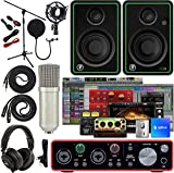 Scarlett 2i2 2x2 USB Audio Interface Full Studio Bundle with Creative Music Production Software Kit...