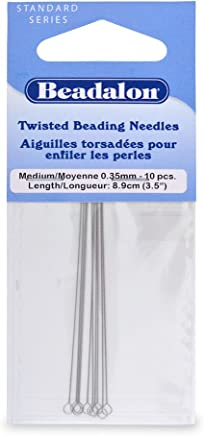 Beadalon Sbeady Wire Needles .018-Inch Diameter 1.5-Inch