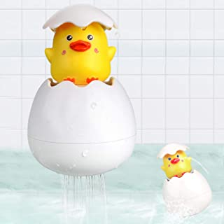 Bath Toys for 1 2 3 Year Old Boys Girl Gifts, Fountain Duck Egg Toys for Toddlers Kids Age 3-4 Years, Funny Bathtub Shower...