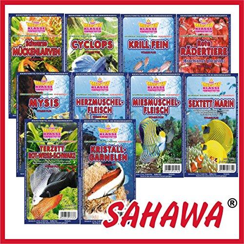 SAHAWA Frostfutter 5 Blister Mysis + 1 Blister Daphnien