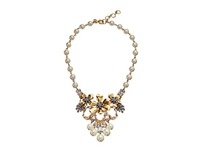 J.Crew Flo Pave and Pearl Necklace (Pearl) Necklace