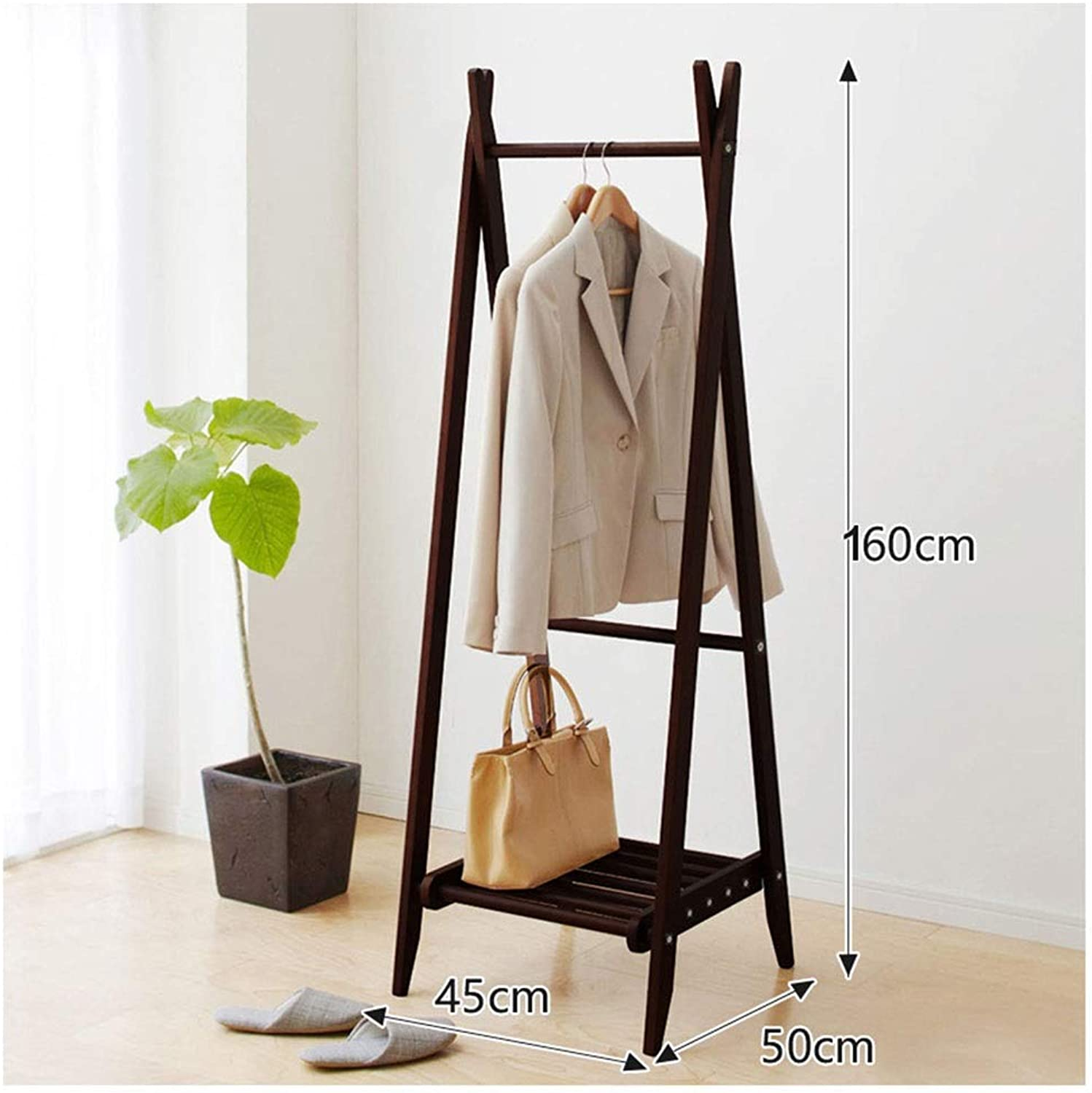WYQSZ Coat Rack-Floor Solid Wood Simple Coat Rack Hanger Wall Hanging Bedroom Hanger Clothes Rack Floor Rack Exquisite Coat Rack - Coat Rack 8563 (color   A)