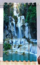 Fresh From Loom Polyester Digital Print Eyelet 5x4 ft Curtain for Window; 1-Piece (Multicolour)