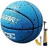 Senston Balón de Baloncesto Tamaño 7 con Bomba, Exterior Interior Calle Balón de Baloncesto, Niños y Jóvenes Juego de Pelota