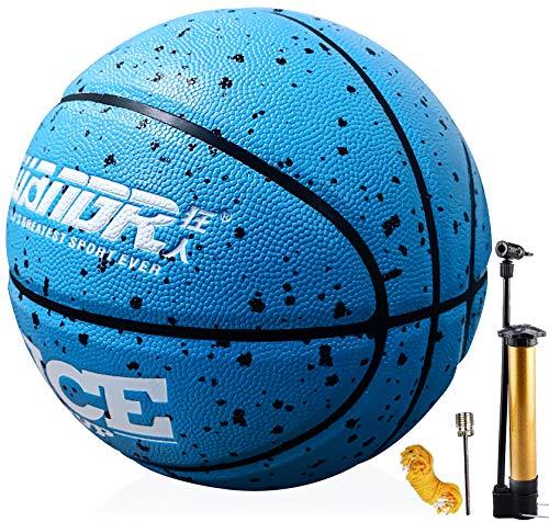 Senston Basketbälle Größe 7 mit Pumpe, Draussen Innen Straße Basketbälle, Kinder & Jugend Ballspiel
