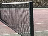 diamante 1009 Rete da Tennis, Nero, 12.8 x 1.07 m