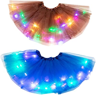 Toddler Kids Girls Baby Tutu Ballet Skirt Fancy Costume LED Light Up Pettiskirt