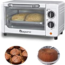 KingServe Small Toaster Ovens,Modern Convection Bake Oven Countertop,Small Home Appliances Compact Toaster Oven,High Quality Kitchen Stainless Steel Toaster Convection Ovens Countertop(Silver)