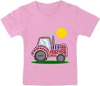 HARIZ Camiseta para bebé con diseño de tractor, sol, vehículos, tractor, tarjeta de regalo