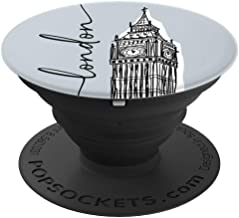 London Big Ben Clock Tower Cityscape Drawing Illustration - PopSockets Grip and Stand for Phones and Tablets