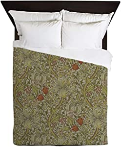 CafePress William Morris Floral Lily Willow Art Print Design Queen Duvet Cover, Printed Comforter Cover, Unique Bedding, Microfiber