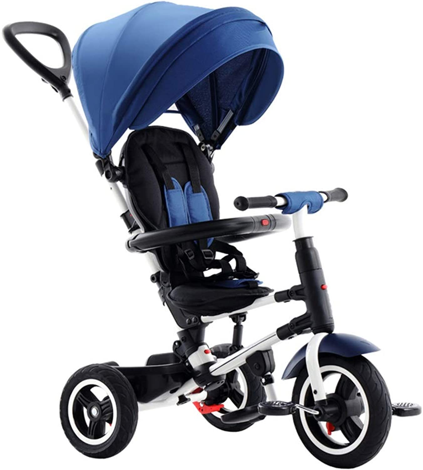 YUMEIGE Kids' Tricycles Kids Tricycle 16 Years Old Birthday Gift TricycleLoad Weight 25 kg Kids Strollers Toddler Trike with Awning (color  bluee Purple) Available