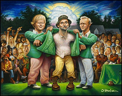 The Green Jacket. A Tribute to Carl Spackler and 1980 Fine Art Offset Print 22' by 28'