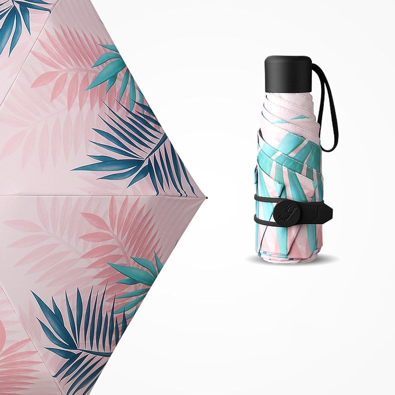 LJHA yusan Ultralight Mini Creativity Umbrella  Anti-UV Woman Summer Parasols   Sunscreen Dual-use Five Fold Umbrella   Sun Umbrella (2 Sizes Available) bumbershoot