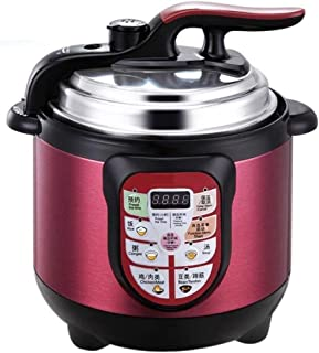 Pressure cooker, multi-function electric pressure cooker, household small pressure cooker, non-stick inner pot, intelligent appointment, safety protection, 2L, 3L (Color : Pink, Size : 2L)
