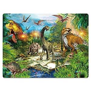 Kids Puzzle for Kids Ages 4-8 Dinosaur Floor Puzzle Raising Children Recognition Promotes Hand Eye Coordinatio (Bulge Design,46Pcs,24x18in)