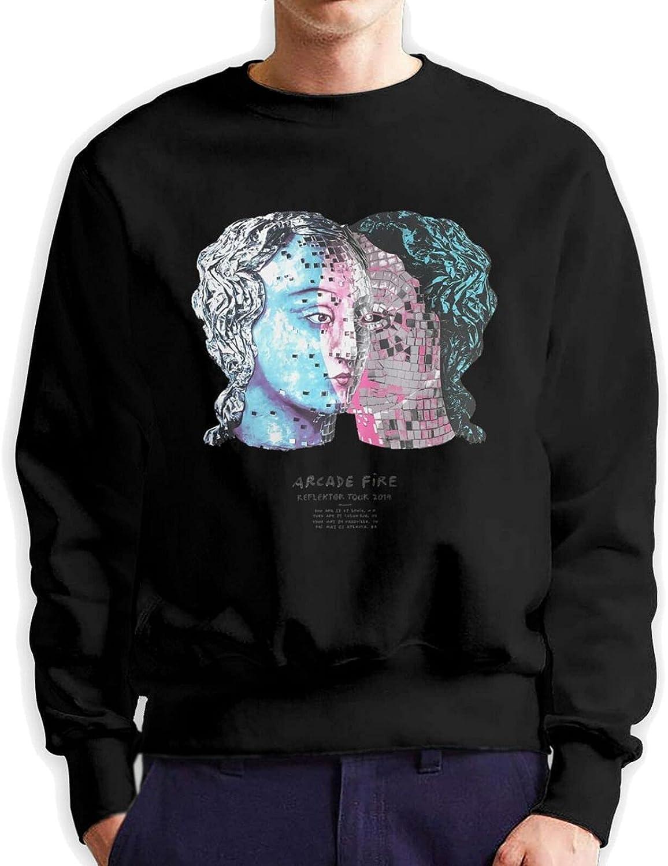 Autumn Winter Cheap super special price Fashion Men's Round Tulsa Mall 3D Neck Sweater Cotton Printin