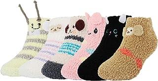 Z-Chen Pack de 6 Pares Calcetines Antideslizantes de Invierno para Bebé Niños Niñas Infantil, Set A, 1-3 Años