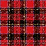 20 tovaglioli scozzesi a quadri rossi come decorazione da tavolo per tutte le celebrazioni, 33 x 33 cm