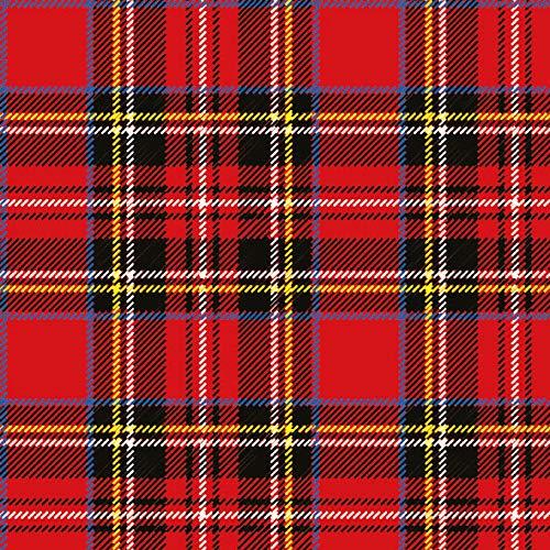 20 servilletas de cuadros escoceses rojas, como decoración de mesa, para todas las celebraciones, 33 x 33 cm