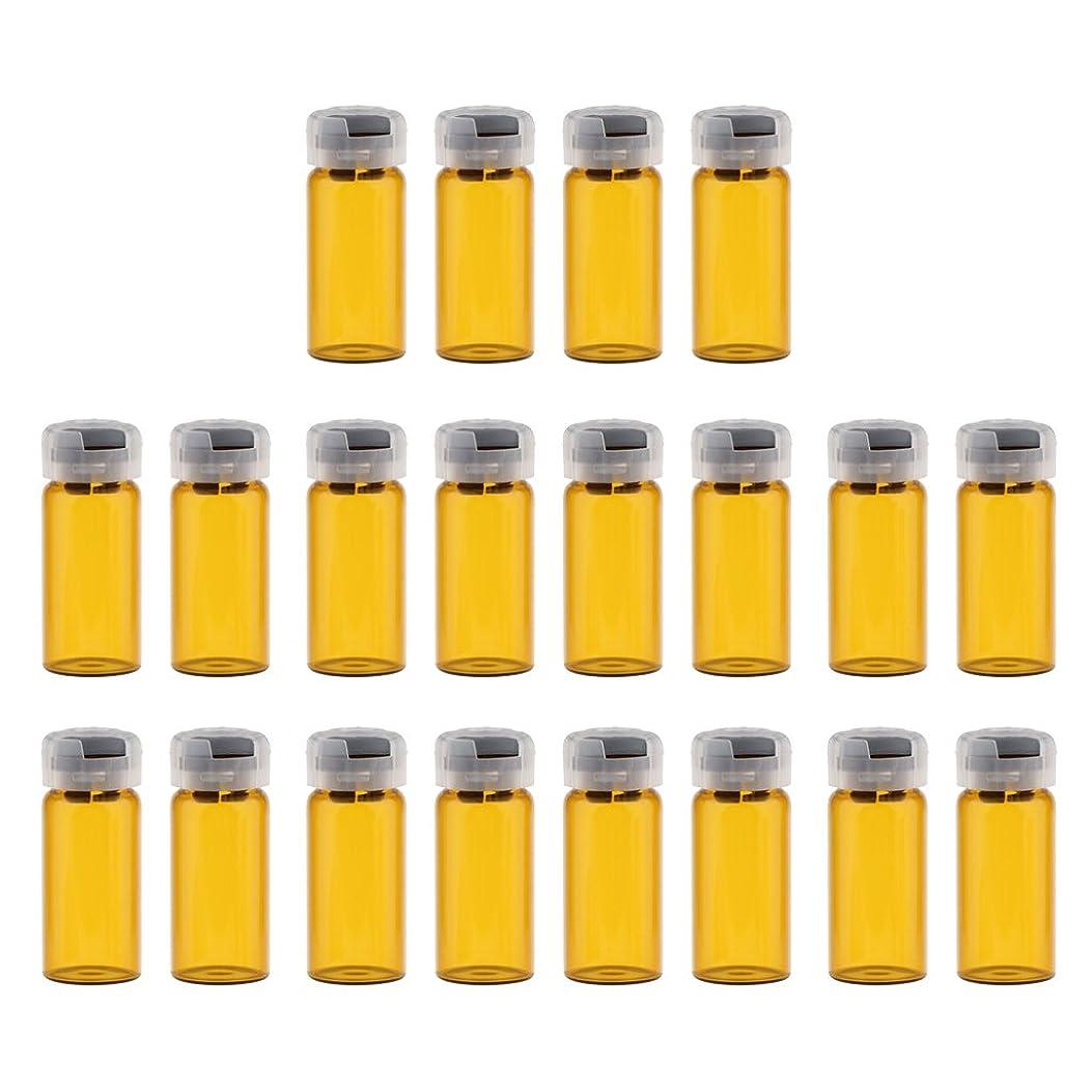 なめらかな等々舗装するKesoto 約20個 空 バイアル 密封 滅菌バイアル ガラス 液体容器 3サイズ選べる - 10ml