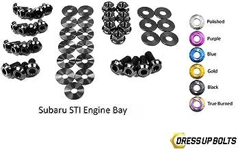 Black Dress Up Bolt Kit for 2011-2014 Subaru Impreza WRX and STI (Engine Bay)