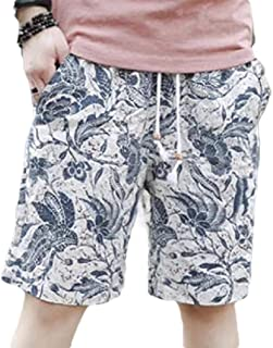 MogogoMen Plus-Size Shorts Trunks Quick Dry Summer Printing Relaxed Shorts