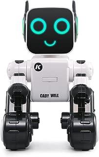 smart robot Toys for Boys and Girls,Interactive Walking Singing Dancing Smart Robotics for Programmable Gesture Sensing Robot Kit(white)