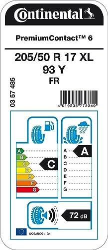 Continental Premiumcontact 6 Xl Fr 205 50r17 93y Sommerreifen Auto