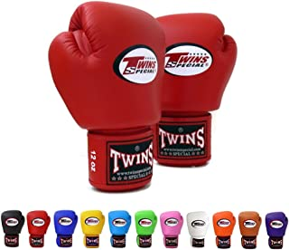 Twins Specials Boxing Gloves BGVL3 Red. Size 8 10 12 14 16 oz. Universal, All Purposes (Training, Sparring, Bag) Gloves for Muay Thai Kick Boxing MMA K1 (Red, 12 oz)