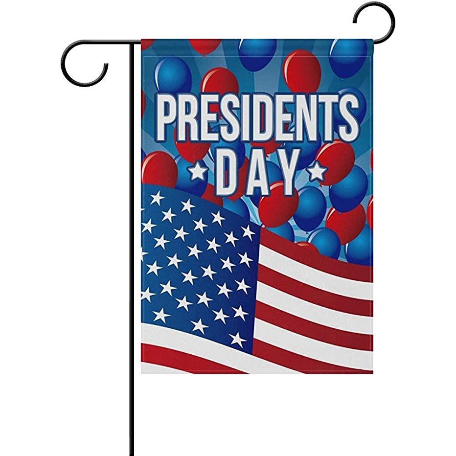 Starojul Vintage Presidents Day American USA Stars Stripes Celebration Garden Yard Flag Banner for Outside House Flower Pot Double Side Print 12