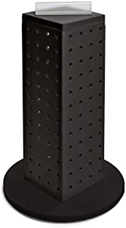Azar 700220-BLK Pegboard 4-Sided Revolving Counter Display, Black Solid Color