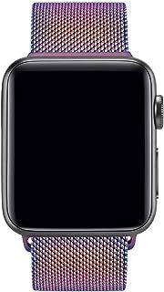 Vancle コンパチブル Apple Watch バンド 38mm 40mm 42mm 44mm ミラネーゼループ アップルウォッチバンド コンパチブルApple Watch Series5/4/3/2/1に対応 ステンレス留め金 (42mm/44mm, カラフル)