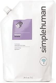 simplehuman Lavender Moisturizing Liquid Hand Soap Refill Pouch, 34 Fl. Oz.