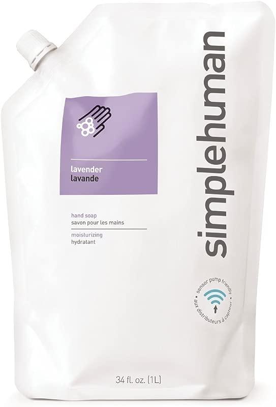 Simplehuman Lavender Moisturizing Liquid Hand Soap Refill Pouch 34 Fl Oz