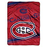 NORTHWEST NHL Montreal Canadiens Raschel Throw Blanket, 60' x 80', Stamp