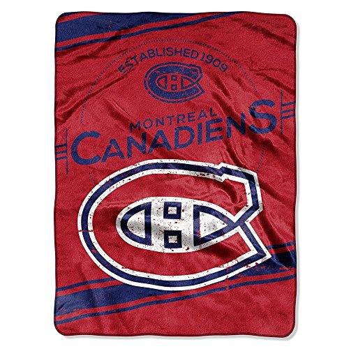 NHL Montreal Canadiens 'Stamp' Raschel Throw Blanket, 60' x 80'