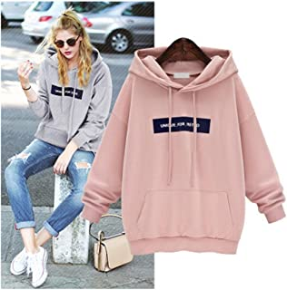 Hemlock Size S-5XL Hoodies Sweaters, Womens Teen Plus Size Sweatshirts Hooded Coats Pullovers Tops (S, Pink)