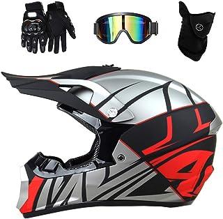 <h2>Qlkx Motorradhelm, Crosshelm Herren Extremsport ATV Dirt Bike MX BMX DH Racing Offroad Helm, Motocross Integralhelm,a,S</h2>