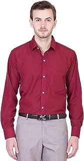 ZAKOD Plain Men's Wear Cotton Shirts for Formal Wear Purpose,100% Pure Cotton Shirts,Available Sizes M=38,L=40,XL=42,6 Colors Available