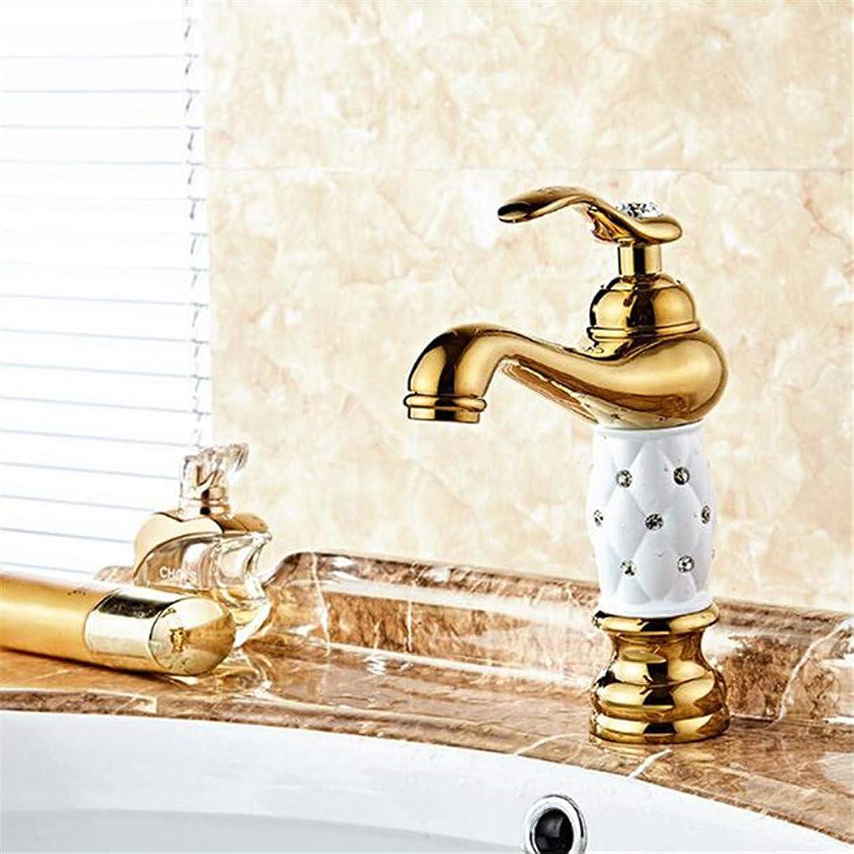 刺す前進スチールミキサー蛇口シングルホット&コールド洗面タップTorneiras Banheiroデッキがマウントされたハンドルポリッシュダイヤモンド浴室の蛇口付き流域水栓真鍮