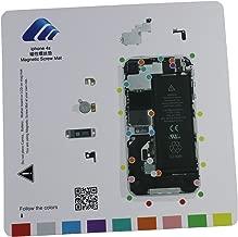 Magnetic Project Mat for iPhone 7 /7plus 6/6s Plus 5s / 5c / 5 / 4s / 4 Screw Mat Repair Guide Pad Screw Keeper Chart Map Professional Guide Pad Repair Tools (For Iphone 4S)