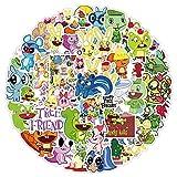 DSSK 50 Pegatinas animadas de Dibujos Animados Happy Tree Friends Graffiti para teléfonos móviles, Ordenadores portátiles, patinetas, papelería, Tazas de Agua, Pegatinas para Equipaje