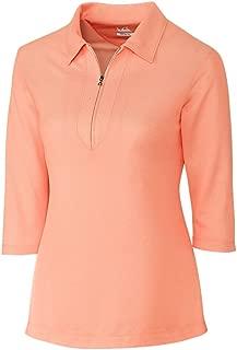 LCK08643 Women's Blaine Oxford 3/4 Sleeve Zip Polo