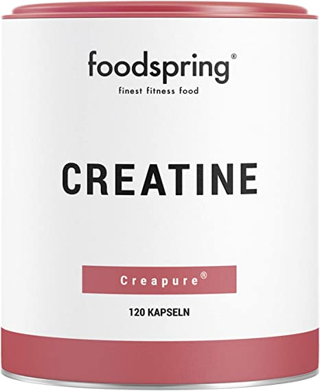 foodspring Creatina en polvo, 150g, Refuerzo para ganar masa ...