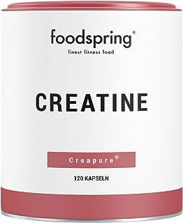 foodspring Creatina cápsulas. 120 cápsulas. Refuerzo para ganar masa muscular