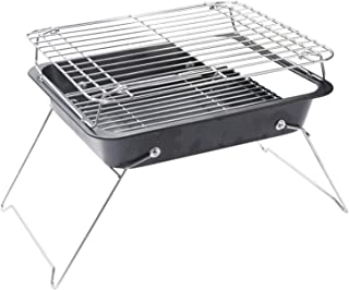 Wyhgry Stainless Steel Barbecue Grill Charcoal Grill Folding Portable for Outdoor Cooking Camping Hiking Picnics Backpacki...