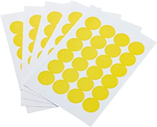 AmazonBasics Print/Write Self-Adhesive Removable Labels, 0.75 Inch Diameter, Yellow, 1008-Pack